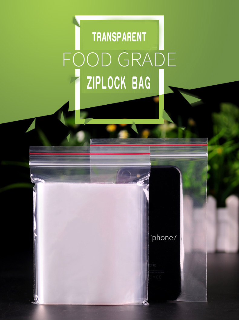 1 Transparent,Ziplock bag,Reseal,Zipper,Bulging ed edge,line,package,Store,Home,Office,food,magazine,Powder,granules.Dried fruit,tea,seasoning,whole grains,casual  (1)