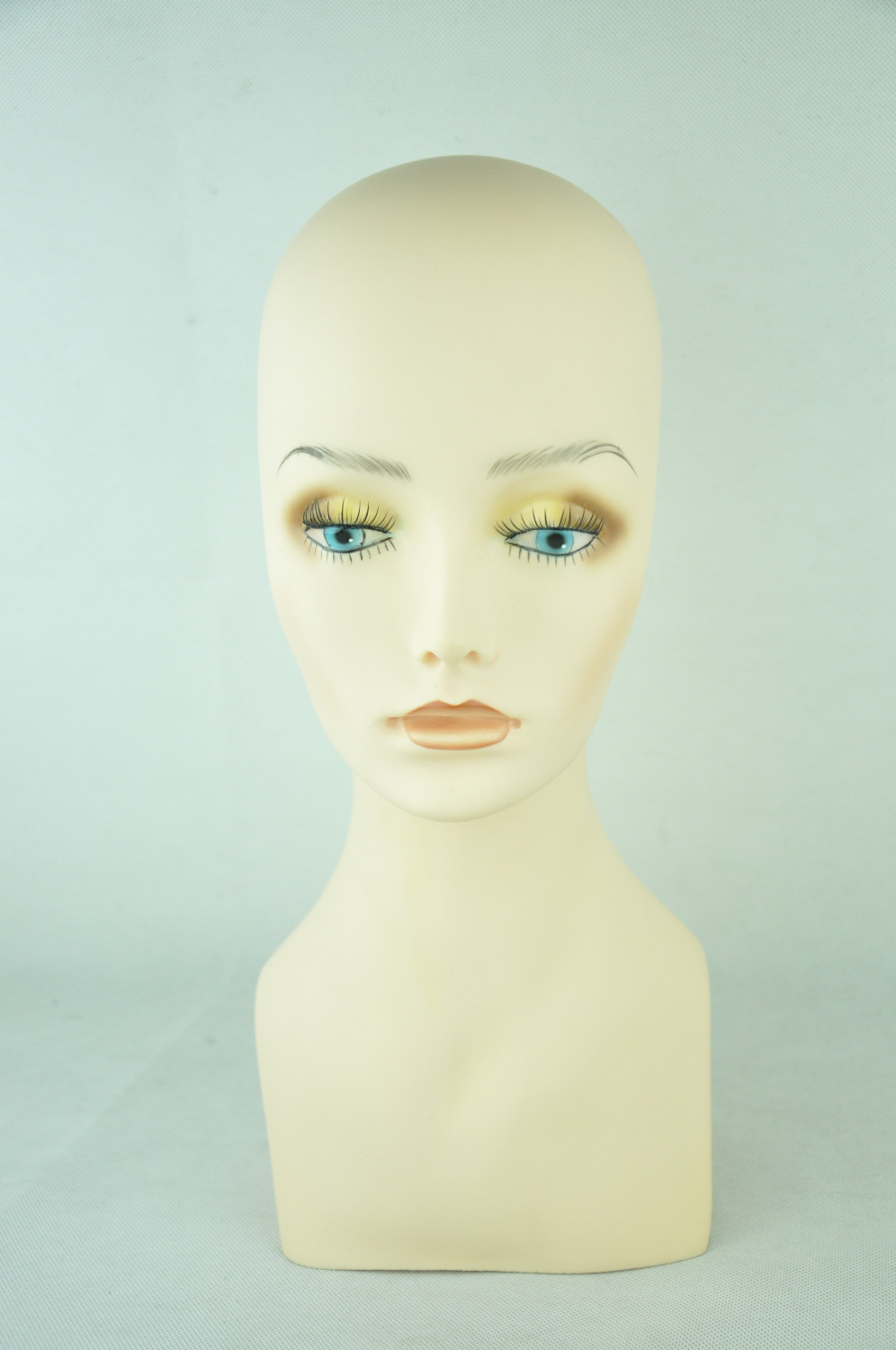 6PC 15 Tall PVC plastic rubber mannequin manikin head for necklace cap wig display PJH