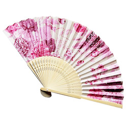 New Summer Vintage Bamboo Folding Hand Held Flower Fan Chinese Dance Party Pocket Gifts Party Wedding fan C523