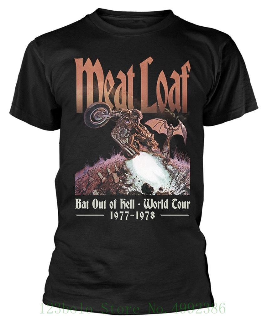 Meat Loaf 'bat Out Of Hell' T Shirt - New & Official! Cool Funny T-shirt Loose High Quality Tees image