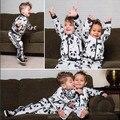 2017 del otoño del resorte NIÑOS panda CHAQUETAS COAT + PANTS 2 UNIDS ROPA CONJUNTOS KIKIKIDS niños coreanos VESTIDOS VETEMENT NAVIDAD niños