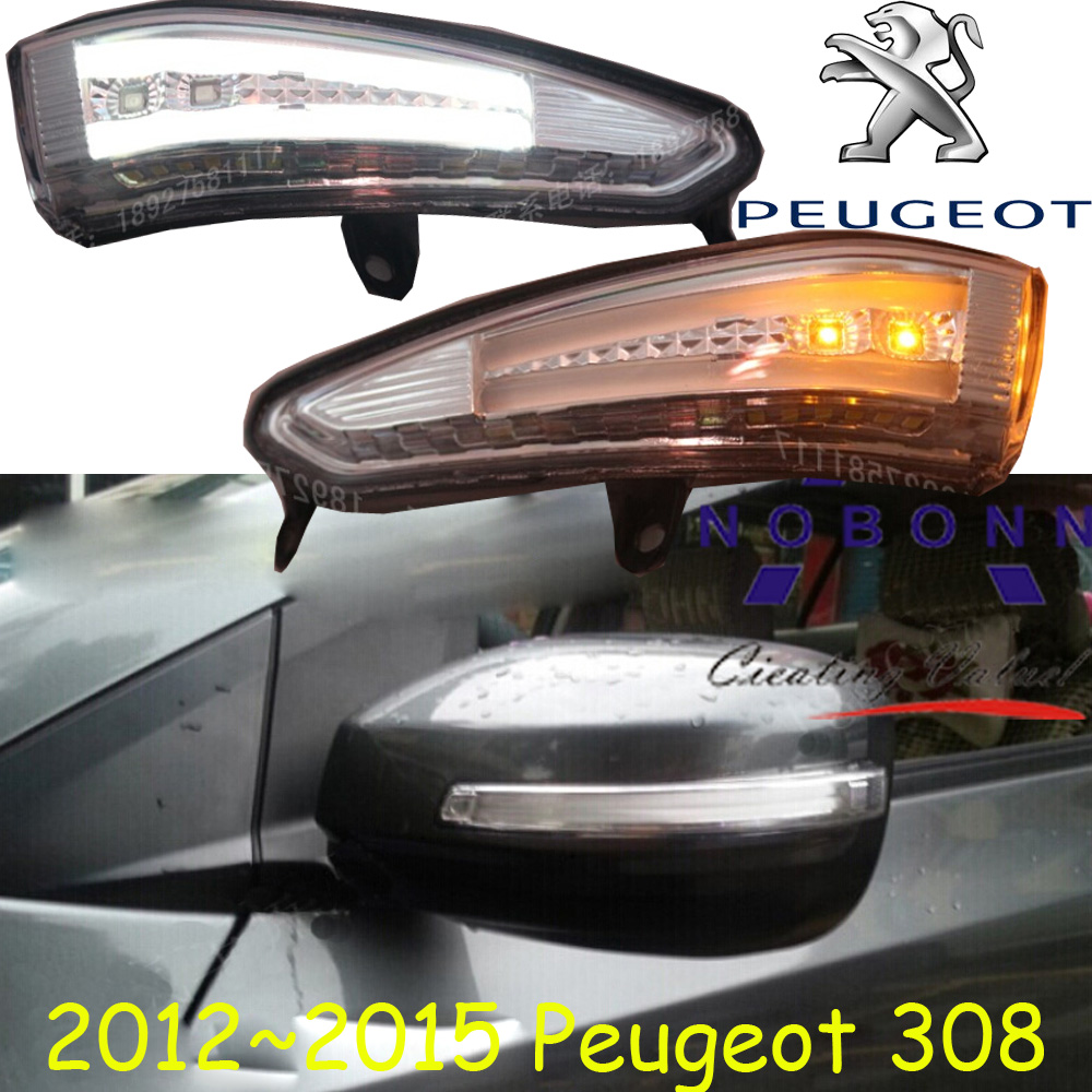 Peugeo 308 Mirror light,2009~2015,Peugeo 308 fog light,Free ship!LED,308 turn light,2ps/set,308 eview mirror
