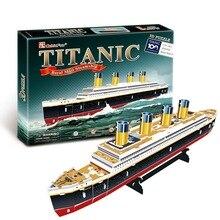 3D Puzzles Kinder Erwachsene Puzzles für Erwachsene Lernen Bildung Gehirn Teaser Montieren Spielzeug Titanic Schiff Modell Spiele Jigsaw