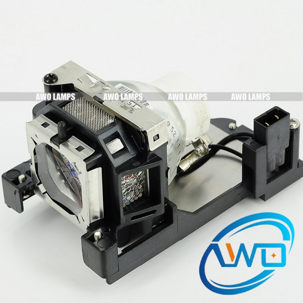 AWO Original Replacement Projector Lamp ET-LAT100 with NSHA230W Bulb for PANASONIC PT-TW231R/PT-TW230 panasonic et lad55w original replacement lamp for the panasonic pt d5500 and other projectors 2 lamp