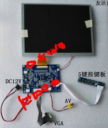 10.4 inch Inch A104SN03 800x600 4:3 TFT LCD Display + (VGA+AV) Driver Controller Board Card 10 4 inch a104sn03 v 1 display screen