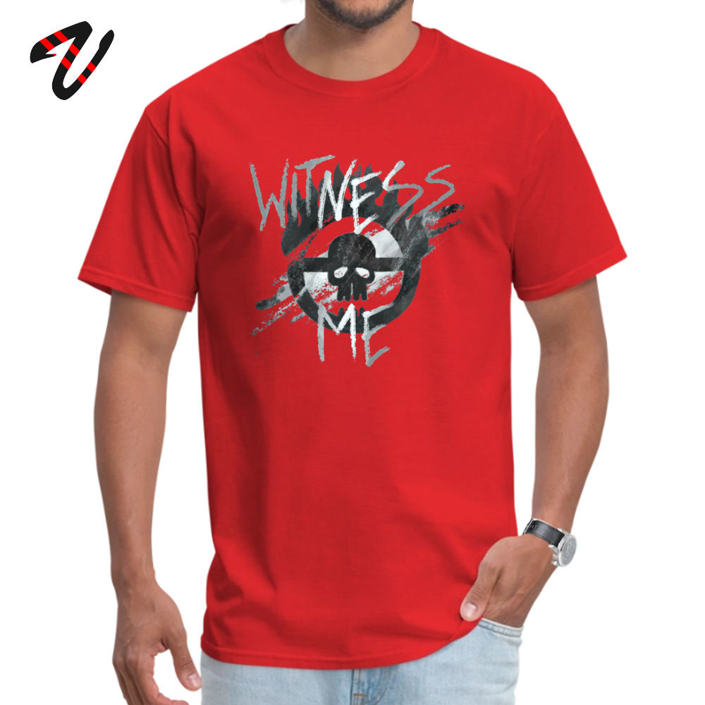 Custom WITNESS ME Young T-Shirt Newest Summer/Autumn Short Sleeve Round Neck Pure Cotton Tops & Tees Simple Style Tops Shirt WITNESS ME 14399 red