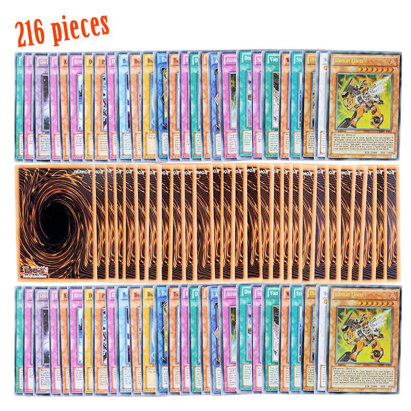 Yugioh 216 шт набор с коробкой yu gi oh Аниме игровая коллекция карт дети мальчики игрушки для Рождественский подарок игрушки