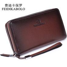 hot deal buy feidikabolo luxury male leather purse men's clutch wallets men brown dollar price handy bags business carteras mujer wallets