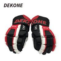Dekone хоккейные перчатки старший лёгкие дышащие Гибкая 14 для льда шнурки для коньков уличный хоккей Training Хоккей перчатки