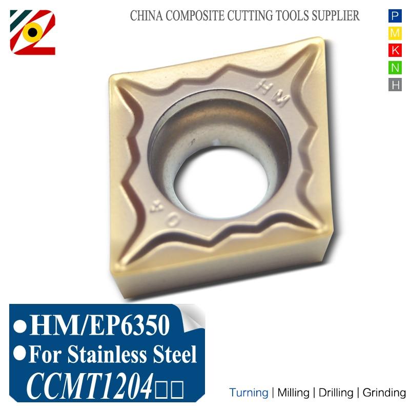 CNC karbidové destičky CCMT120404 CCMT120408 CCMT431 CCMT432 HM Vrtání Vnitřní soustružnické nástroje Obrábění nerezové oceli SS