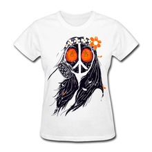 Short Sleeve WAR & PEACE women t shirt Cheap Wholesale Funny Women t shirt