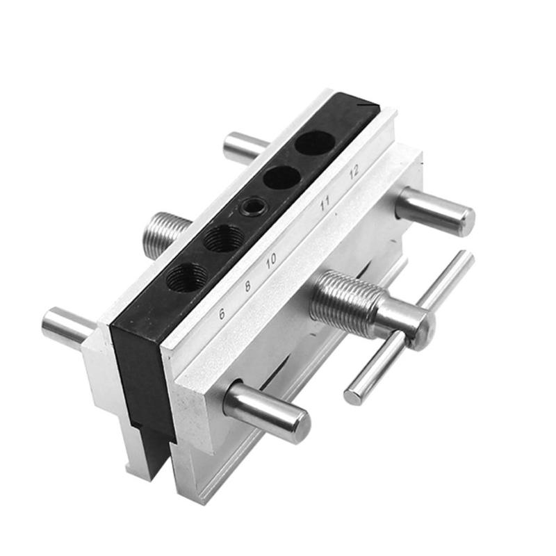 Woodworking Vertical Hole Punch Locator Puncher Doweling Jig Drill Guide Woodworking Self-Centering Doweling Jig Kit Drill Guide