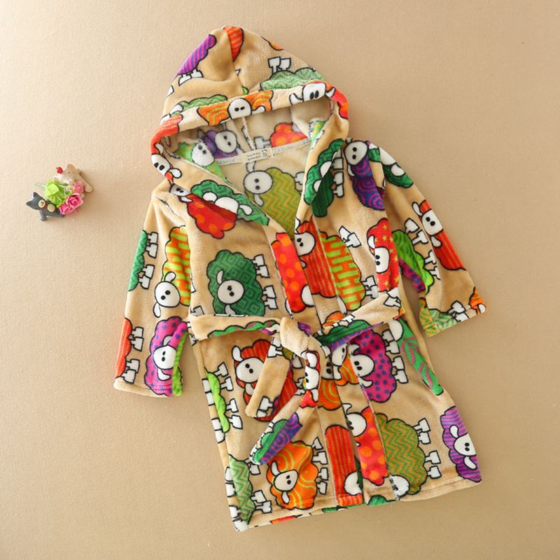 Spring 2018 Hooded Kids Bathrobe Toddler Girl Clothing Cartoon ...