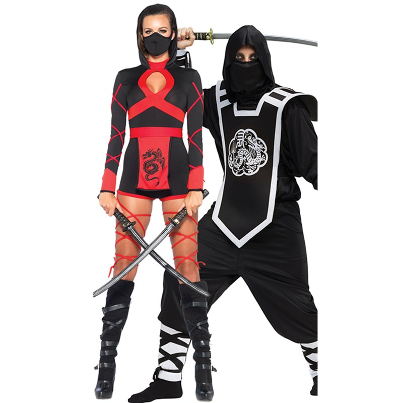 halloween ninja costume couple costume masquerade party halloween costumes for women adult men ninja samura assassins costume in sexy costumes from novelty