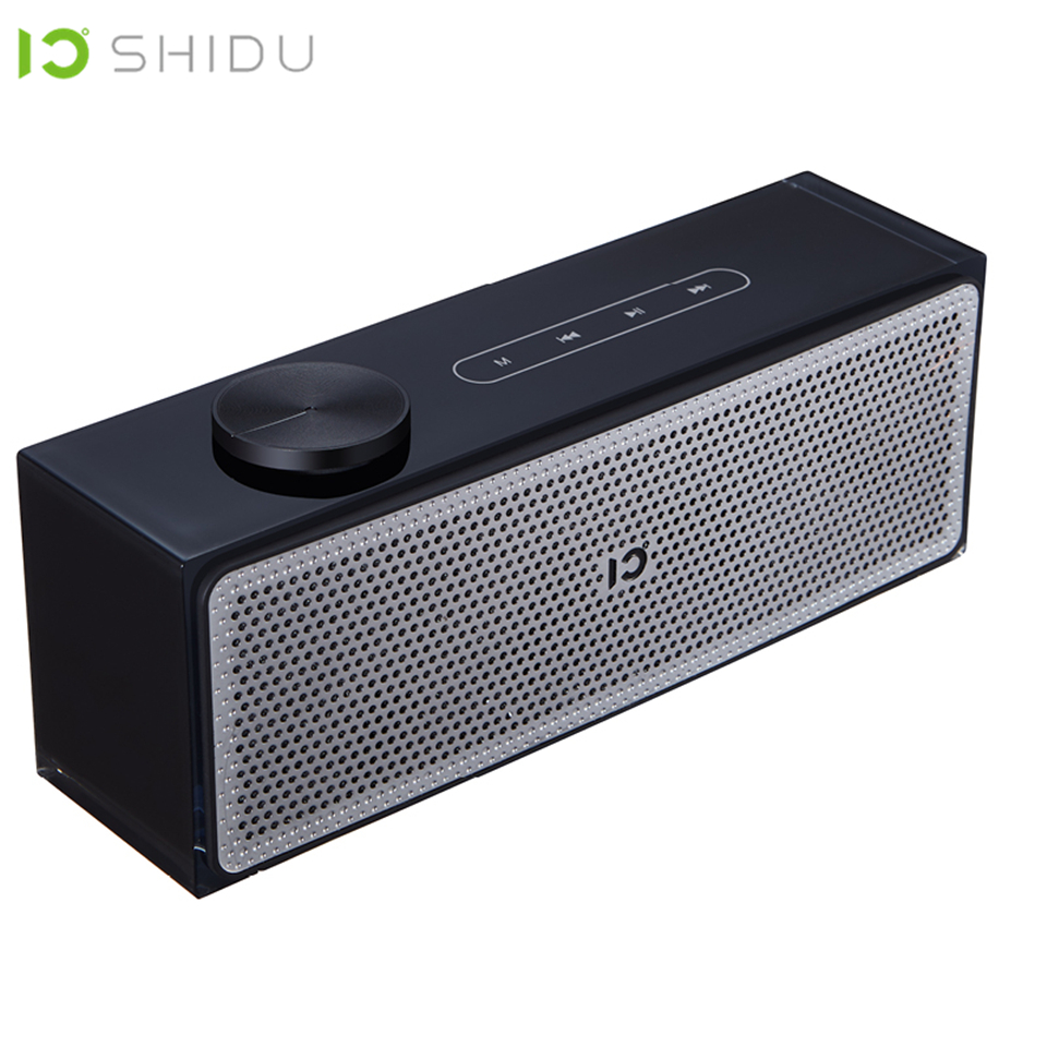 SHIDU Portable Bluetooth Speaker Wireless Outdoor Stereo Music Surround Loudspeaker Touch Key Press Hands-Free Call Sound System cowin dida touch control mini portable column wireless bluetooth speaker with hd sound and enhanced bass hands free loudspeaker