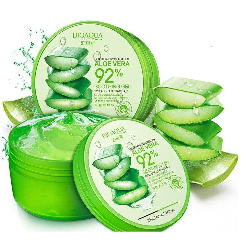 100% Pure Natural Aloe Vera Gel suavizante reparación humedad crema eliminar el Edema bloqueador solar mascarilla