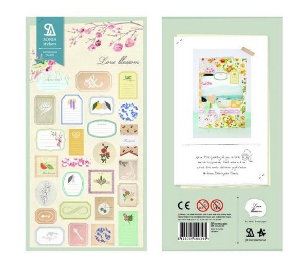 1 PCS Flower Label Korean Sonia Stickers Cellphone Decal Diary Calendar Decorative Sticker Flakes 2012