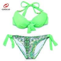 2015 Women Hot Bikini Push Up Swimwear Explosion Models Bandeau Biquini Vintage Triangle Brand Name Women