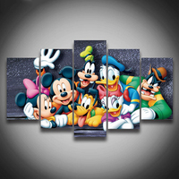 5Pcs 3D Full Square Diy Diamond Painting Cross Stitch Pattern Diamond Embroidery Cartoon Mouse Duck Room Decor