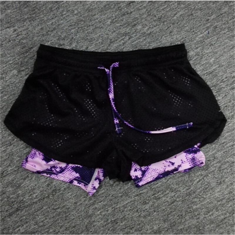 Kopno 2016 Ljeto Žene Pamuk Mesh Kratke hlače Work-out Dva sloja - Ženska odjeća - Foto 4
