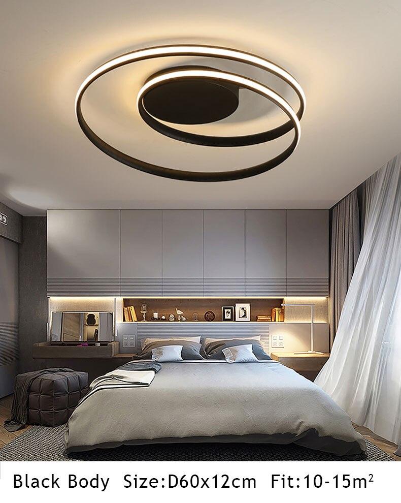 HTB150w8P6TpK1RjSZKPq6y3UpXaR Hot Sale Modern LED Ceiling Lights For Living Room Bedroom Dining Room Luminaires White&Black Ceiling Lamps Fixtures AC110V 220V