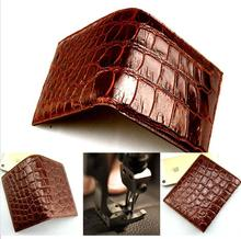 100% genuine crocodile leather skin wallet and purse alligator belly skin wallets brown color