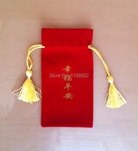 Cbrl cordão de veludo para presentes  pulseira jóias e pulseira  colar acessórios do telefone bolsa  saco personalizar