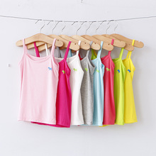V TREE Fashion Summer children s clothing cartoon puppy girls tank top candy colored girls vest