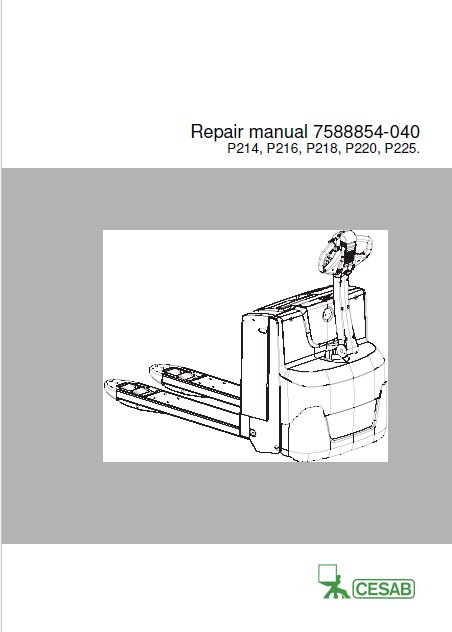 Cesab Spare Parts and Repair and Operation Manuals 2017 EN