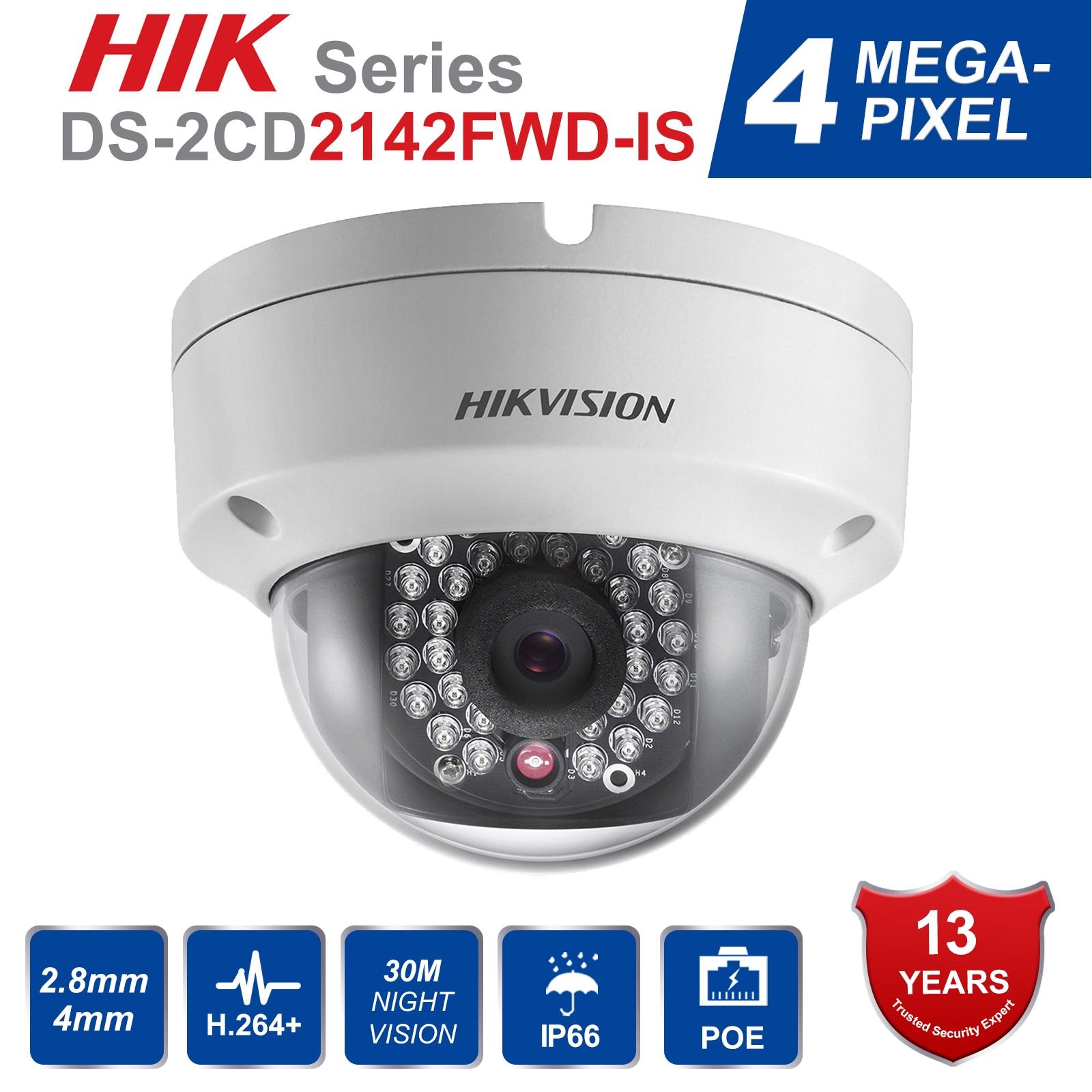 Hik Originele DS 2CD2142FWD IS 4MP POE IP Camera Dag/nacht Infrarood 3D DNR 3 as aanpassing IP67 IK10 Bescherming security Camera-in Beveiligingscamera´s van Veiligheid en bescherming op AliExpress - 11.11_Dubbel 11Vrijgezellendag 1
