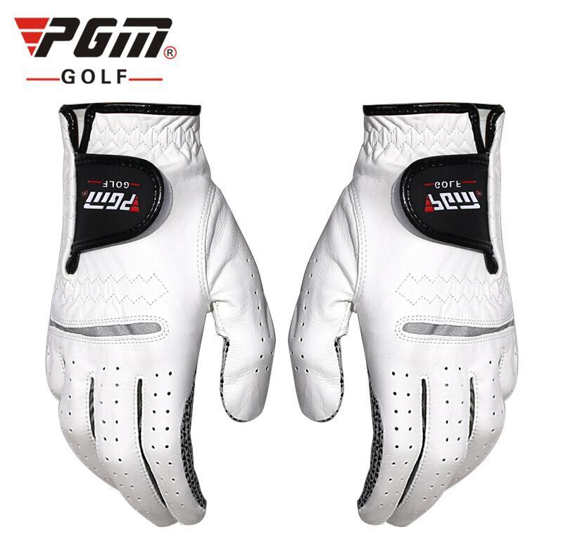 Luvas de Golfe da Mão Luvas de Golfe de Couro dos Homens Anti-slip Cabretta Couro Esquerda ou Mão Direita Macio Respirável Wear-resistant 1 Pcs