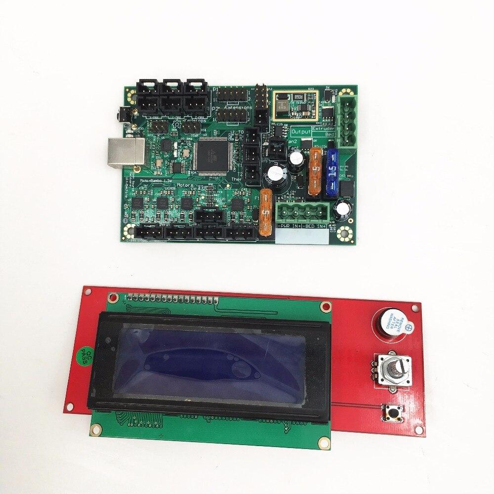Funssor Clone prap rampes 1.4 2004 LCD et Mini-Rambo 1.3a carte mère pour imprimante 3d Prusa i3 MK2 conçue par Ultimachi