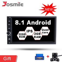 Car DVD Player Android 8.1 Player 2 Din Radio Universal GPS Navigation Multimedia For Nissan Toyota Volkswagen Mazda BYD Wifi FM