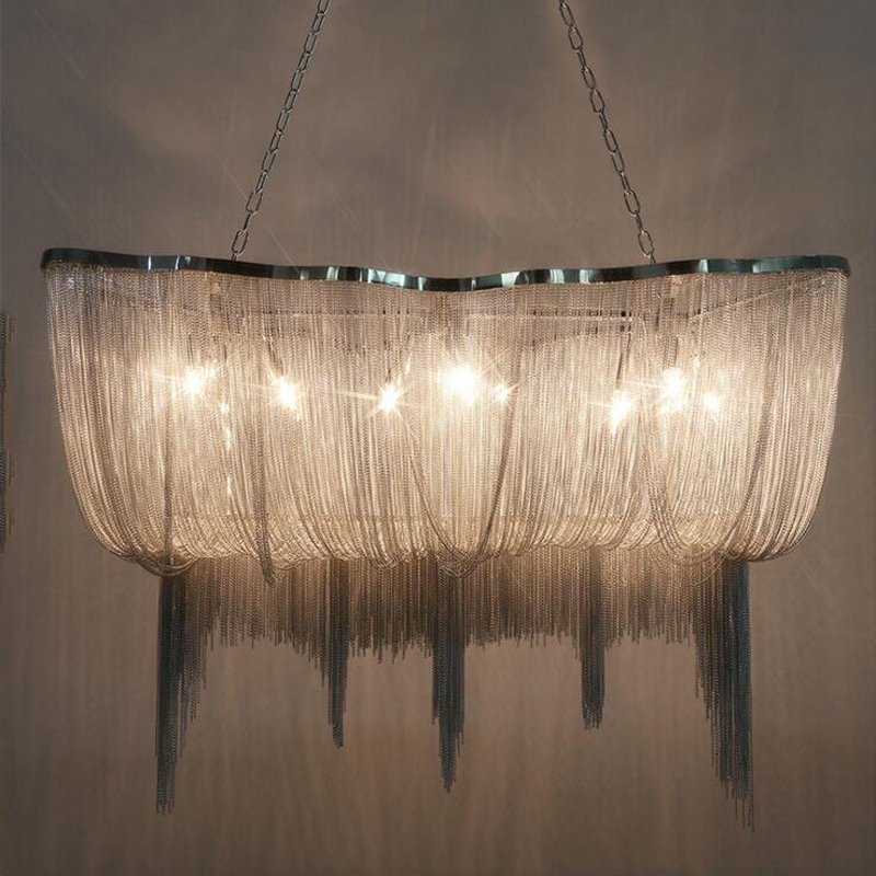 Nordic Chandelier Restaurant Creative Bedroom Personality Bar Post Modern Rectangle Designer Art Lights led lighting fixture vintage clothing store personalized art chandelier chandelier edison the heavenly maids scatter blossoms tiny cages