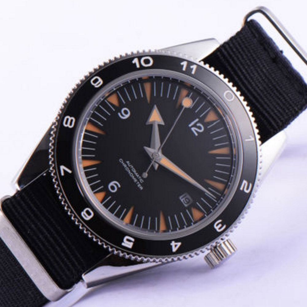 41mm debert black sterile dial sapphire glass miyota Automatic mens Watch цена и фото