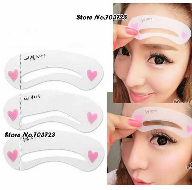 3rd Eye Brow Class Drawing Guide Stencils 3 Different Shape Eyebrow
