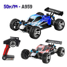 Remote Control Car Wltoys A959 Upgraded 540 Brush Motor High Speed 50km/h 1:18 4D 2.4G RC Car Wall Climbing Car High Speed(China)