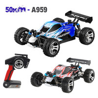 Remote Control Car Wltoys A959 Upgraded 540 Brush Motor High Speed 50km/h 1:18 4D 2.4G RC Car Wall Climbing Car High Speed