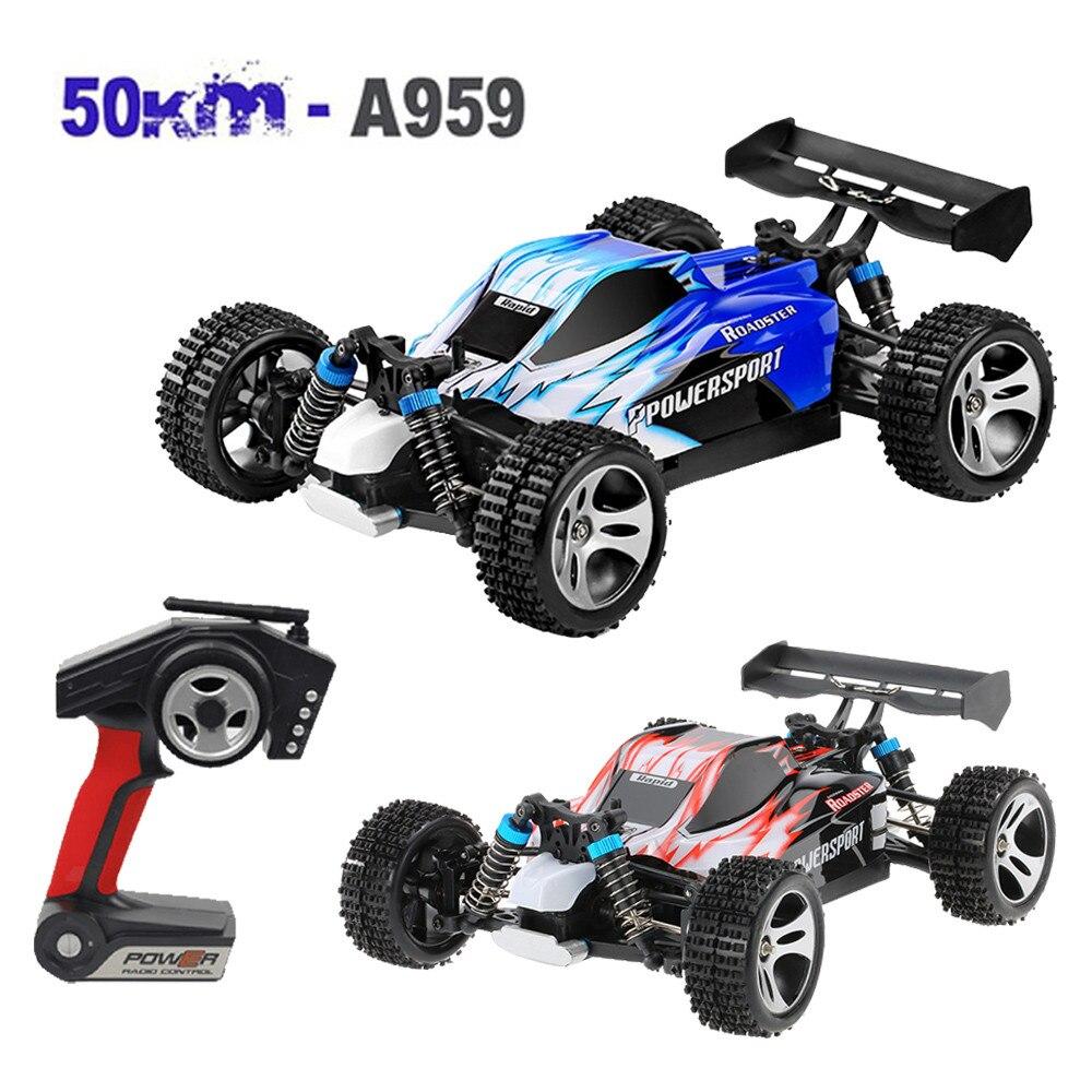 Télécommande voiture Wltoys A959 amélioré 540 brosse moteur haute vitesse 50 km/h 1:18 4D 2.4G RC voiture escalade voiture haute vitesse