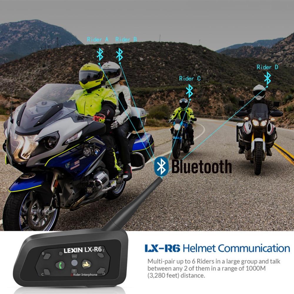 LEXIN 3PCS 1200M մոտոցիկլ Bluetooth սաղավարտ - Պարագաներ եւ պահեստամասերի համար մոտոցիկլետների - Լուսանկար 4
