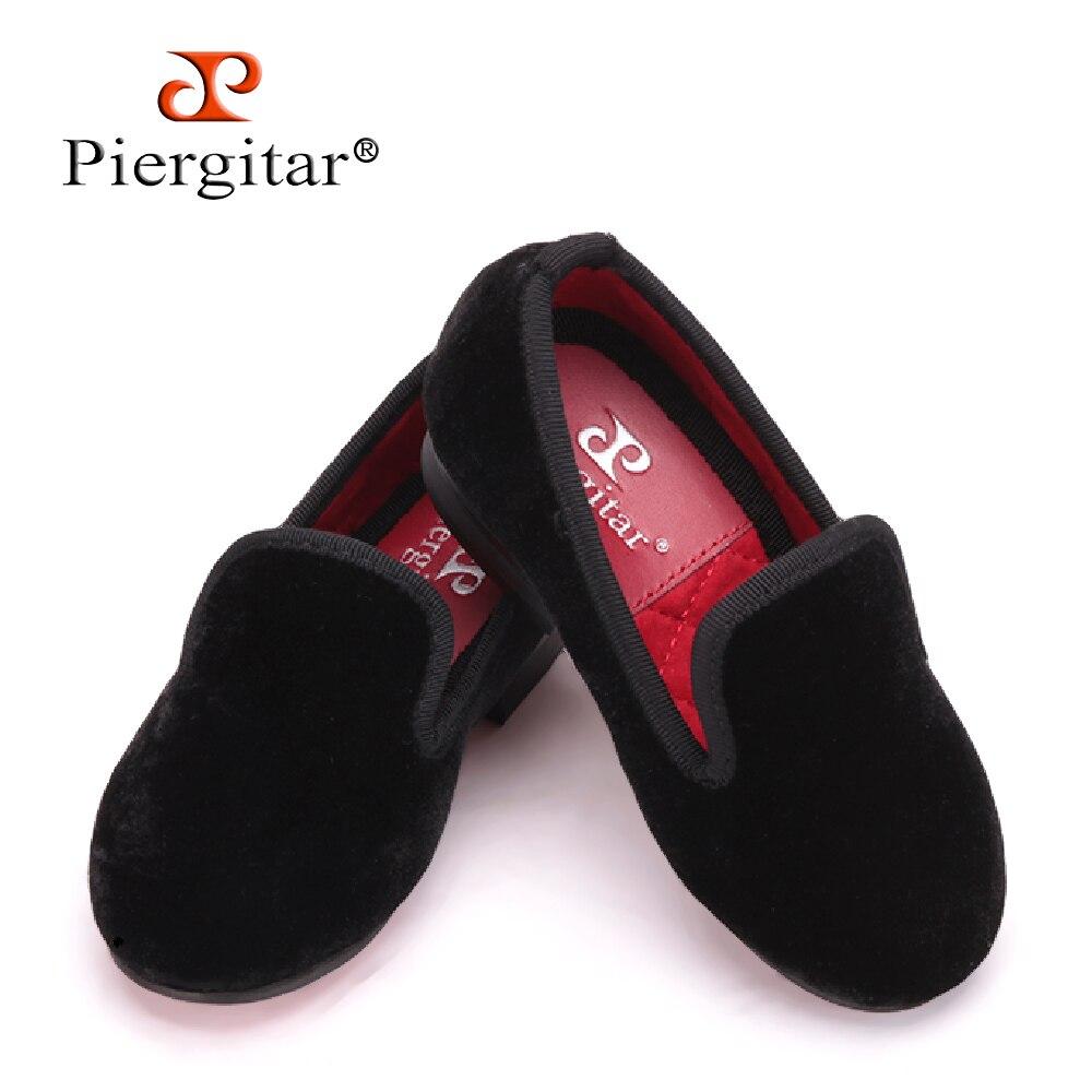 da40cb629a7 Piergitar 2017 new Handmade kid velvet plain shoes Party and Wedding Children  loafers Colorful velvet choose Kid s Flats