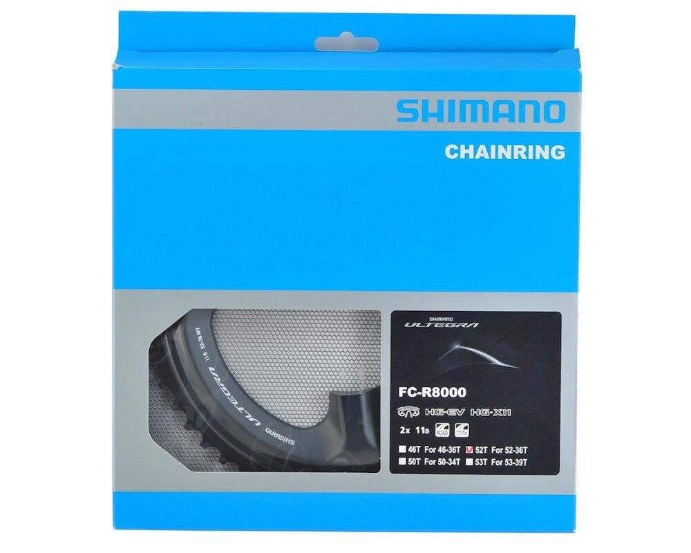Shimano Ultegra R8000 plateau 2x11-speed roue à chaîne R8000 plateaux 50 T 52 T 53 T pièces de vélo livraison gratuite