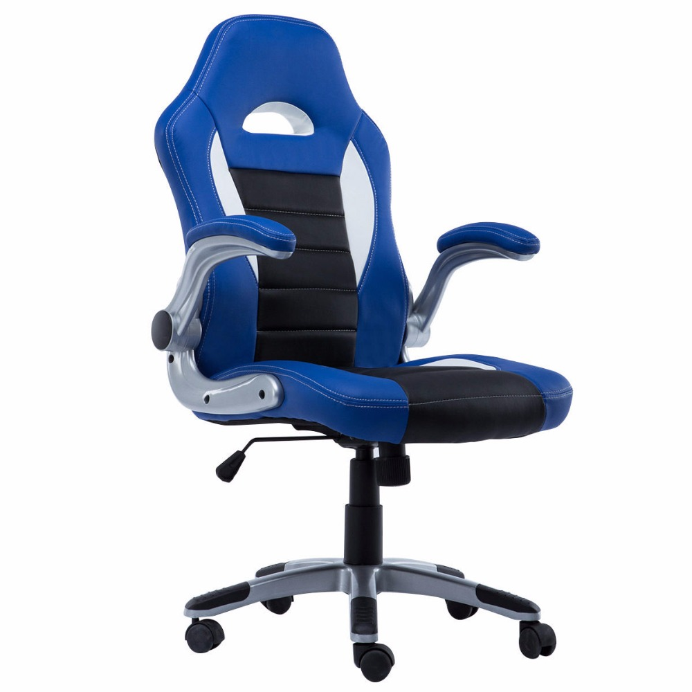 New PU Leather Executive Racing Style Bucket Seat Chair 2016 Office Desk ChairCB10070BK 240337 ergonomic chair quality pu wheel household office chair computer chair 3d thick cushion high breathable mesh