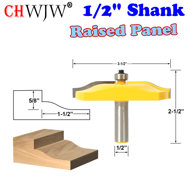 1pc 1/2 Shank Raised Panel Router Bit - Ogee Door - Large 3-1/2 Diameter Woodworking cutter Tenon Cutter for Woodworking Tools 1pcs 8mm shank entry door for long tenons router bit woodworking cutter woodworking bits tenon cutter for woodworking tools