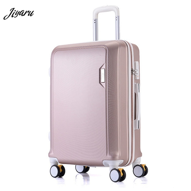 82aa8a2478ba Новый 2019 чемодан из АБС-прокатки ручной Багаж 4 вращающийся Спиннер  тележка сумка дорожная сумка Hardside 20 22 24 26 дюймов багажная сумка