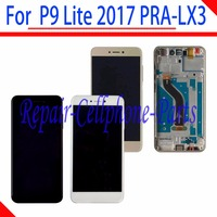 Full LCD DIsplay + Touch Screen Digitizer + frame C Assembly For Huawei P9 Lite 2017 PRA LX3 Tracking Number
