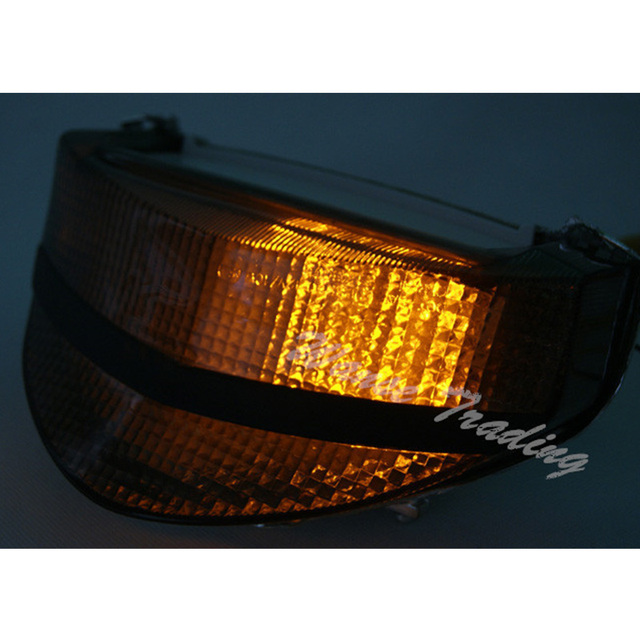 Waase Rear Taillight Tail Brake Turn Signals Integrated Led Light Lamp Smoke For 2000 2001 HONDA Fireblade CBR 929 RR CBR929RR