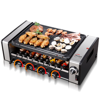 Household no-smoke barbecue pits Korean Commercial automatic electric barbecue machine non-stick electric grills & griddles 220v Гриль
