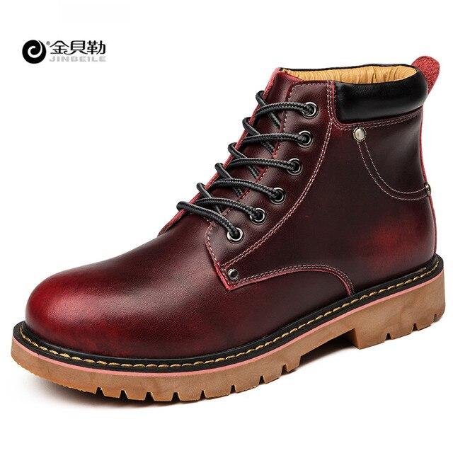 682d5e2614a8d Los Hombres de Cuero impermeables Zapatos Para Caminar Al Aire Libre  Calzado Deportivo DR Martin Botas