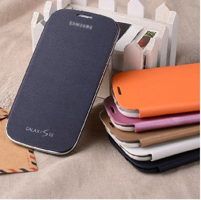 Colorful Original Official Genuine Galaxy S3 SIII I9300 Flip Cover Case For Samsung+ Screen Protector Free Shipping